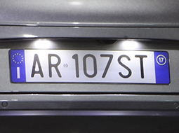 Licence plate lights