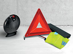 Warning triangles and emergency kits