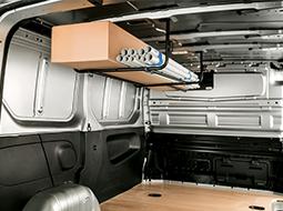 Commercial van internal equipment