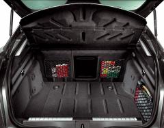 Rear seat retaining storage net