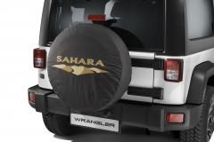Spare tyre cover with Sahara logo