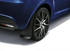 Rear mudflaps splash guards with print design for Alfa Romeo Mito