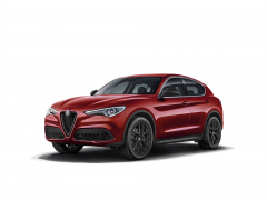Front Grille With Matt Miron Insert For Stelvio And Super Versions