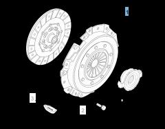 Clutch kit (clutch disc and pressure plate) for Alfa Romeo Giulietta