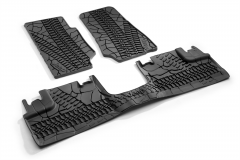 Rubber floor mats for car RHD (black)