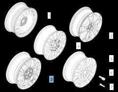 Alloy wheel 7J x 17'' for Fiat 500X