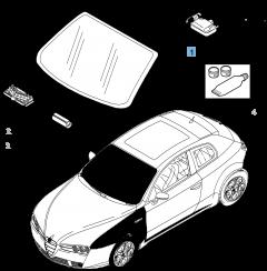Windscreens for Alfa Romeo Brera Coupe