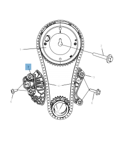 Adjustable tensioner for timing chain for Jeep