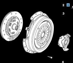 Clutch kit (clutch disc and pressure plate) for Alfa Romeo
