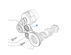 Fixed tensioner for Fiat and Fiat Professional