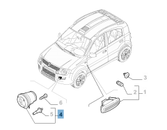 Front indicator for Fiat Panda