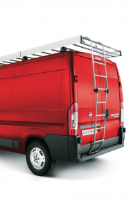 Folding aluminium ladder for Fiat Professional Ducato