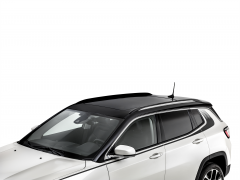 Chromed longitudinal bars for car roof for Jeep Compass
