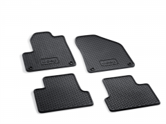 Rubber floor mats for car (black)