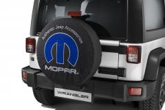 Spare tyre cover with Mopar logo