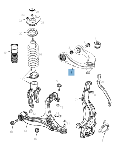 Control arm for front upper suspension for Jeep Grand Cherokee