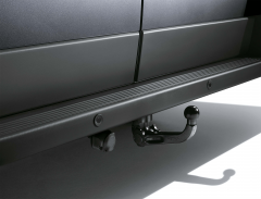 Removable tow hook for van