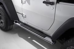 Chrome walkways side sills under the door for Jeep Wrangler