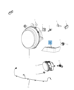 Indicator bulb for Jeep Compass/Patriot