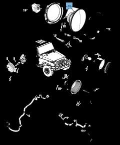 headlamp for Jeep Wrangler