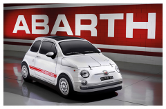 Abarth 500 car cover with classic Abarth print