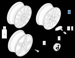 Alloy wheel 7J x 17'' H2 ET 39 for Abarth Grande Punto