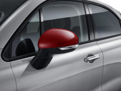 Red mirror covers backing caps for Fiat 500X