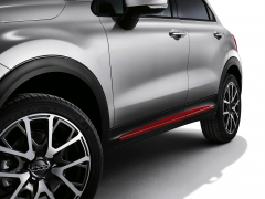 Red side trims for doors for Fiat 500X