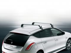 Aluminium roof bars for car for Lancia Delta