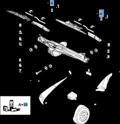 SET OF 2 WIPER BLADES(ESSENTIAL PART)