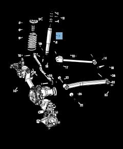 Shock absorber for Jeep Wrangler