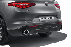 Skid Plate On Rear Bumper In Glossy Dark Miron Colour For Vehicles With Tow Bar