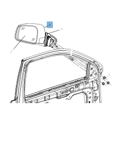 External wing mirror for Jeep Grand Cherokee
