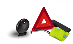 Safety kit with triangle and reflective vest for Fiat Professional Talento