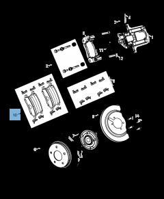 Rear Disc Brake Pad (Set of 4)