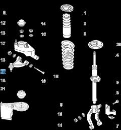 Right control arm for Alfa Romeo