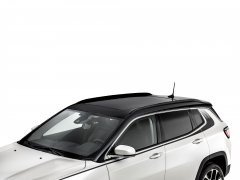 Glossy black longitudinal bars for car roofs for Jeep Compass