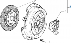 Clutch kit (clutch disc, pressure plate and release bearing) for Fiat and Fiat Professional