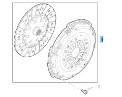 Clutch kit (clutch disc and pressure plate) for Fiat and Fiat Professional Talento
