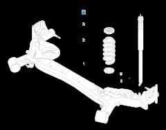 Rear shock absorber for Fiat Sedici