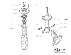 Front right shock absorber for Fiat Sedici