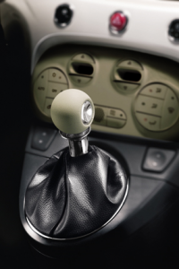 Ivory leather gear knob