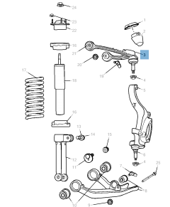 Control arm for front upper suspension for Jeep Cherokee