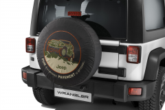 Spare tyre cover with off-road design