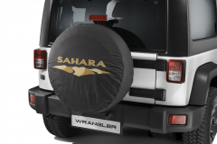 Spare tyre cover with Sahara logo