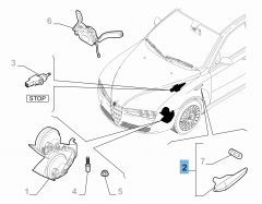 Left side direction indicator lamp for Alfa Romeo