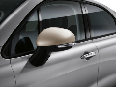 Beige mirror covers backing caps for Fiat 500X
