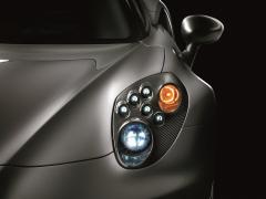 Headlight chassiss BI-LED carbon fibre