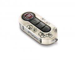 Key cover kit (Flowers) for Fiat 500