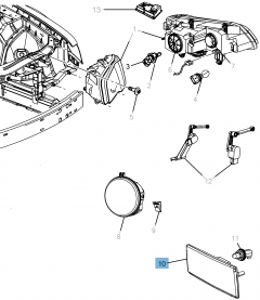 Indicator bulb for Lancia Thema